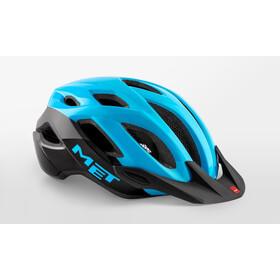 MET Crossover Kask rowerowy, cyan/black glossy
